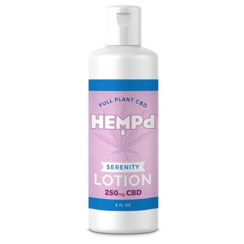 Hemp oil extract infused lotion